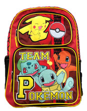 Backpack - Pokemon - Large 16 Inch - Red - Team Pokemon