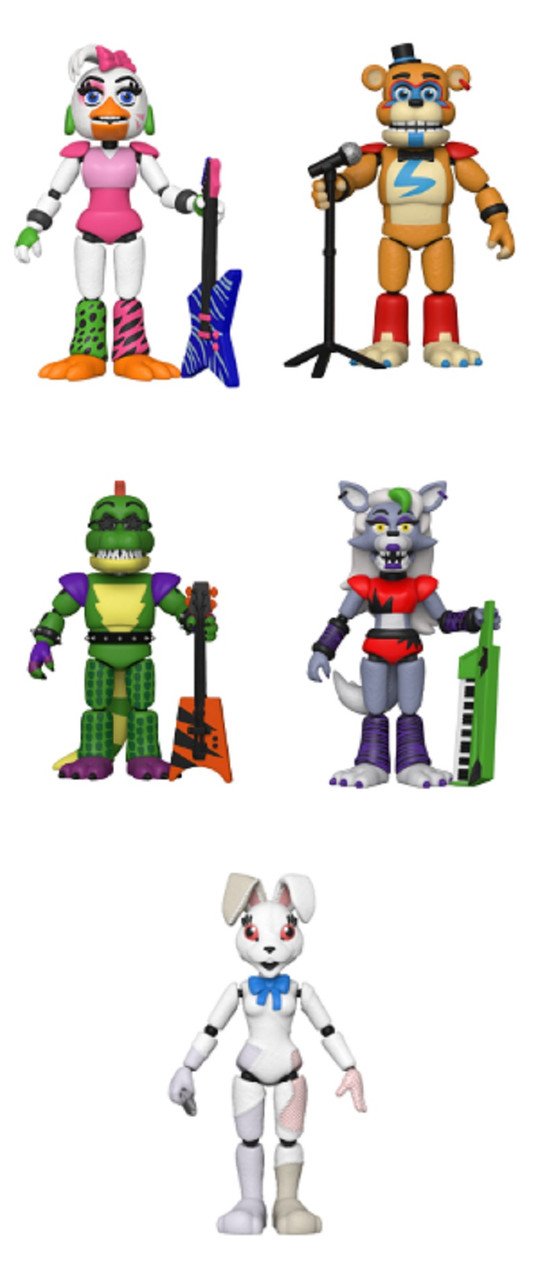 Security Breach Action Figure - Bundle of 5 - Five Nights at Freddy's - FNAF