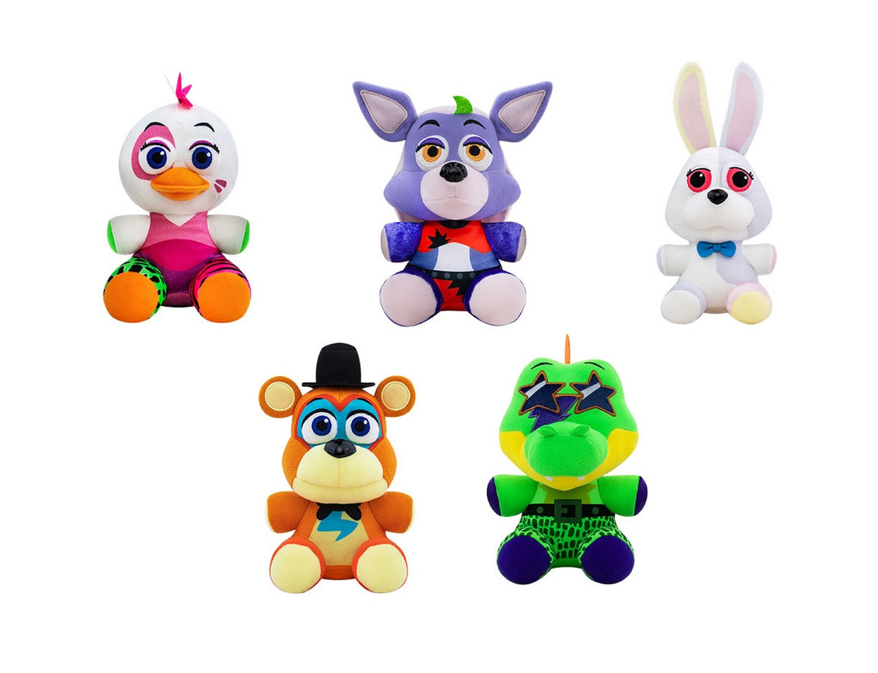 Security Breach Plush Toy - Bundle of 5 - Five Nights at Freddy's - 6 Inch