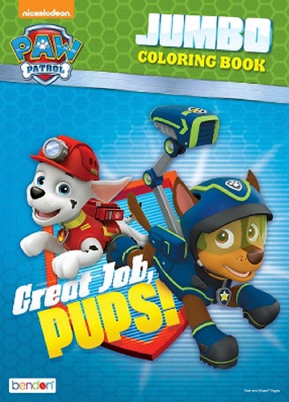 Coloring Book - Paw Patrol - Jumbo Coloring Book - 60p - Great Job, Pups