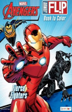 Coloring Book - Avengers - Jumbo Flip Book to Color - 64p - Fierce Fighters