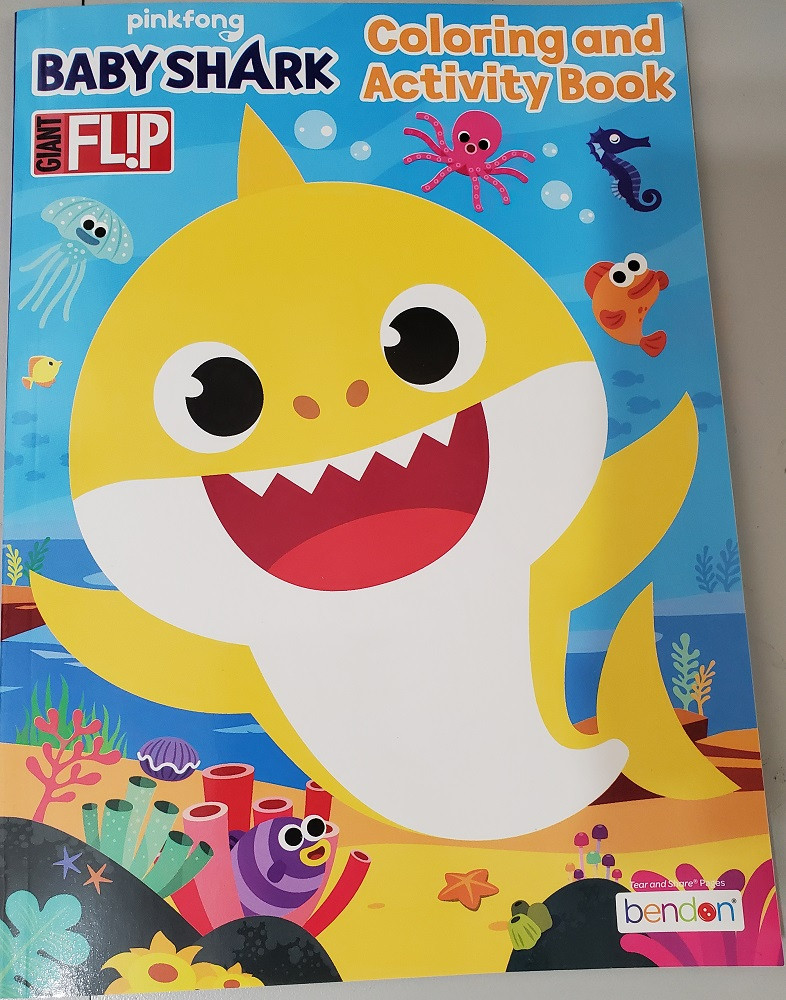 Coloring Book - Baby Shark - Jumbo Flip Book to Color - 64p