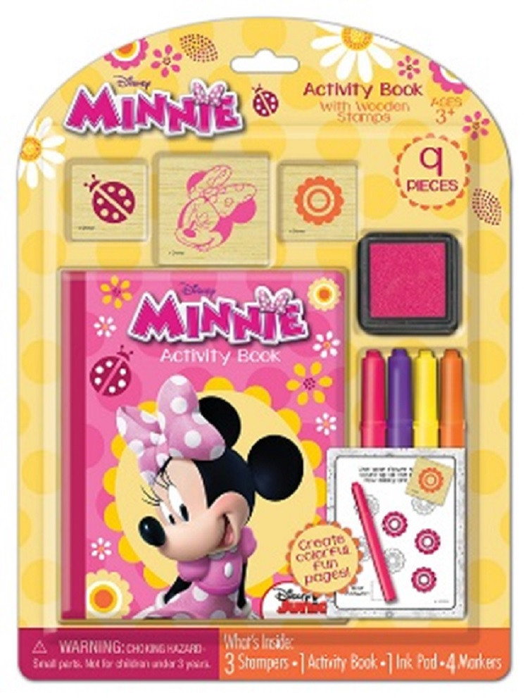 Stamper Set - Minnie Mouse - Wooden - 9pc