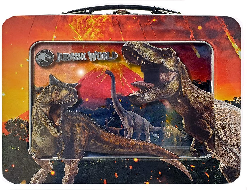 Jurassic World XL Tin Lunchbox with Window