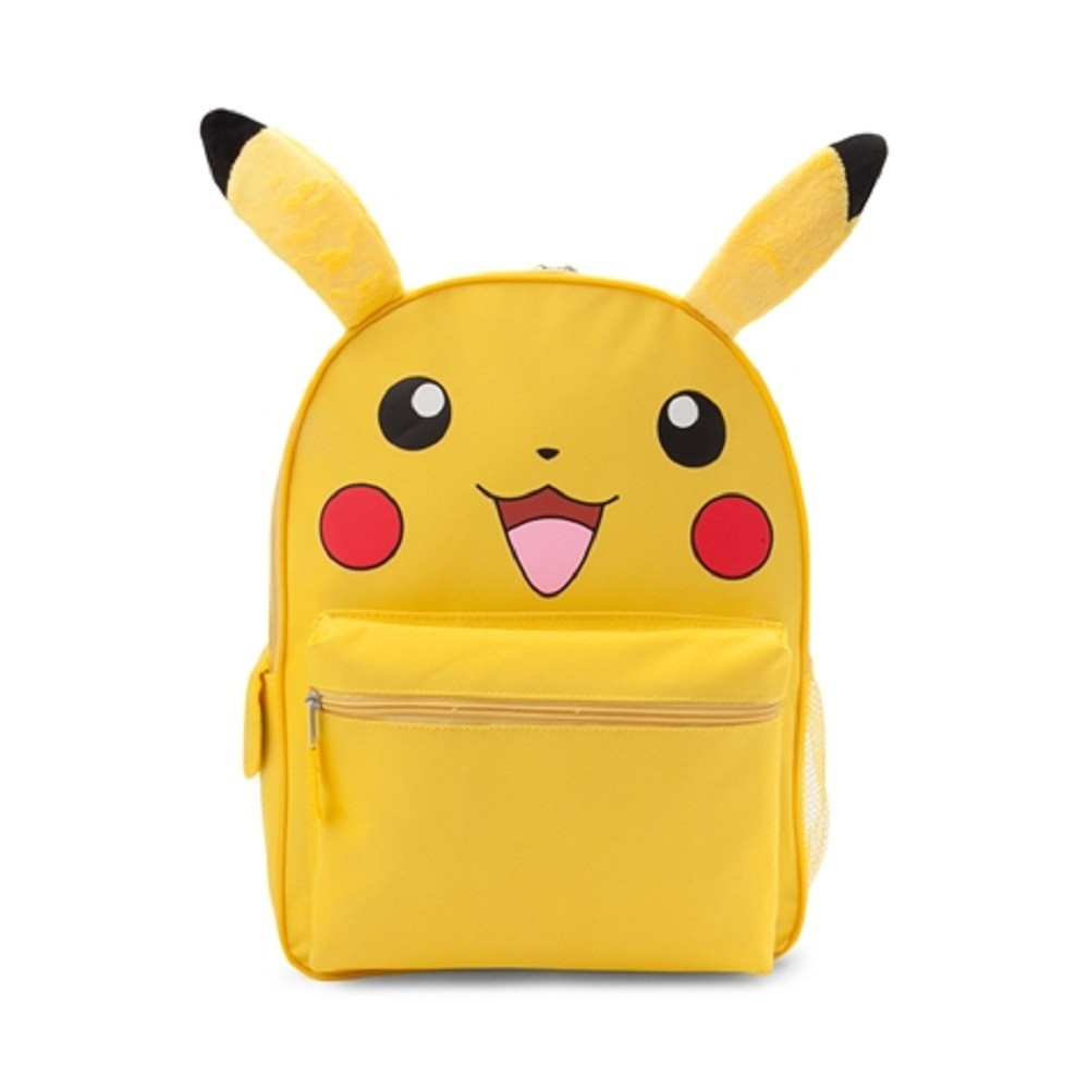 Backpack - Pokemon - Large 16 Inch - Pikachu Face - Yellow