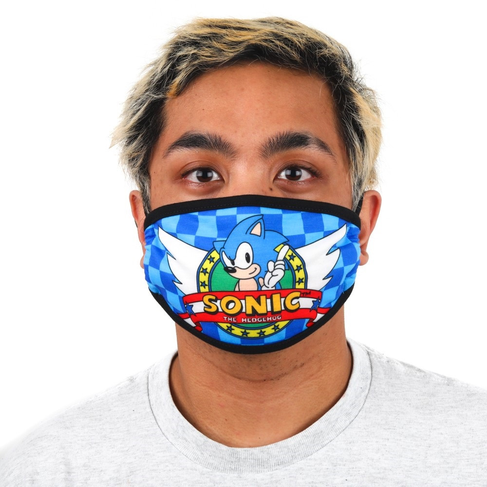 Sonic the Hedgehog Face Cover - One Size