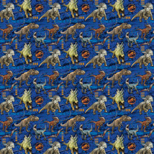 Gift Wrap - Jurassic World - 30 Inch X 5 Ft - Paper - 1 Roll