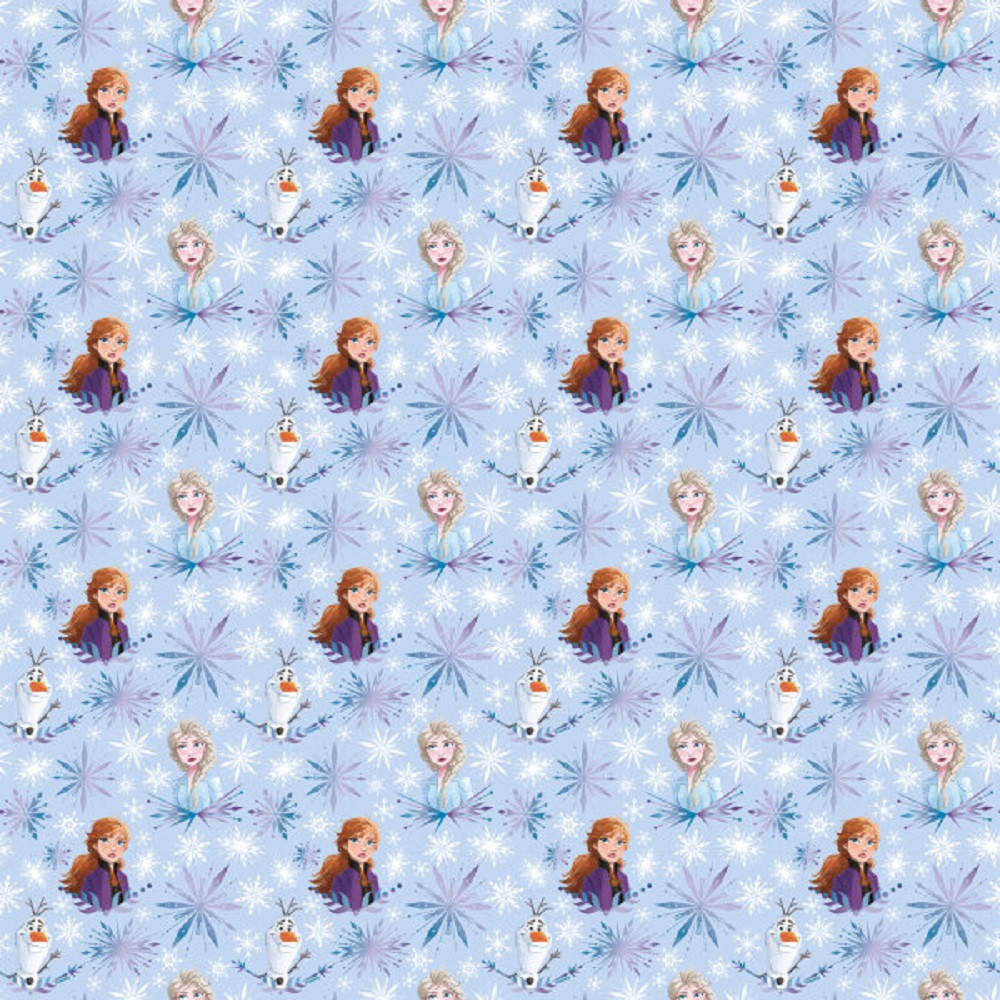 Gift Wrap - Frozen -Snowflakes - 30 Inch X 5 Ft - Paper - 1 Roll