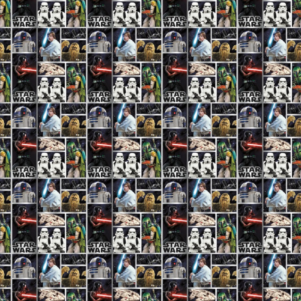 Gift Wrap - Star Wars - 30 Inch X 5 Ft - Paper - 1 Roll
