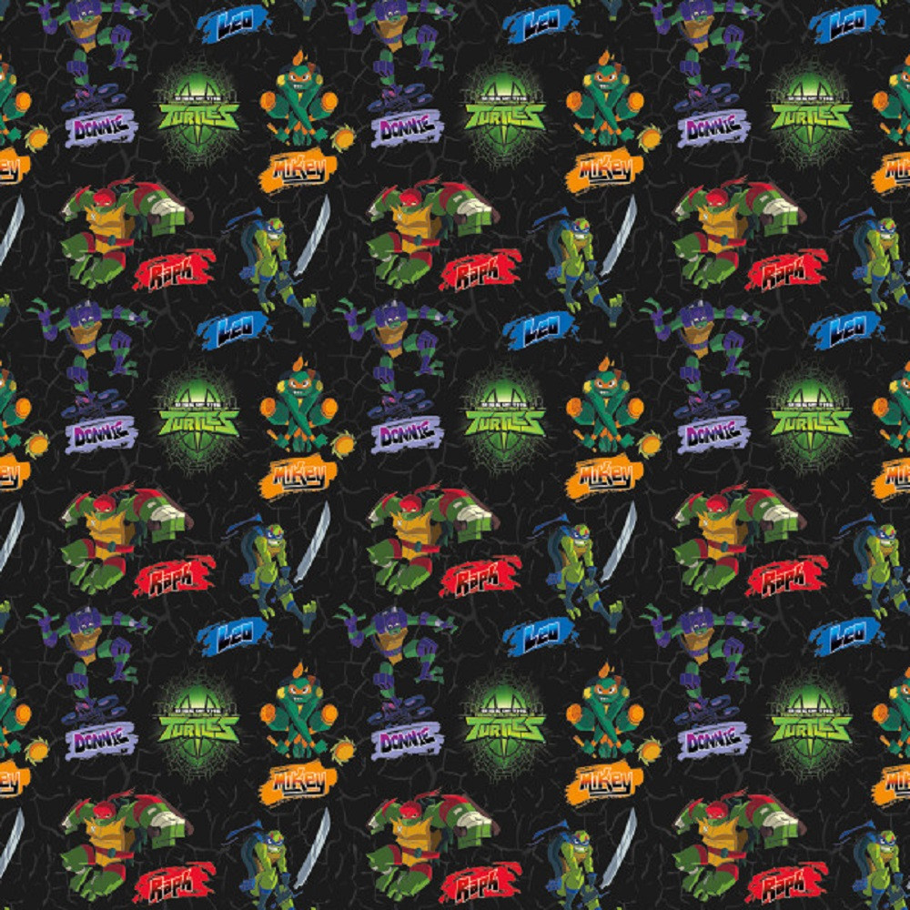 Gift Wrap - Rise of the Ninja Turtles - 30 Inch X 5 Ft - Paper - 1 Roll