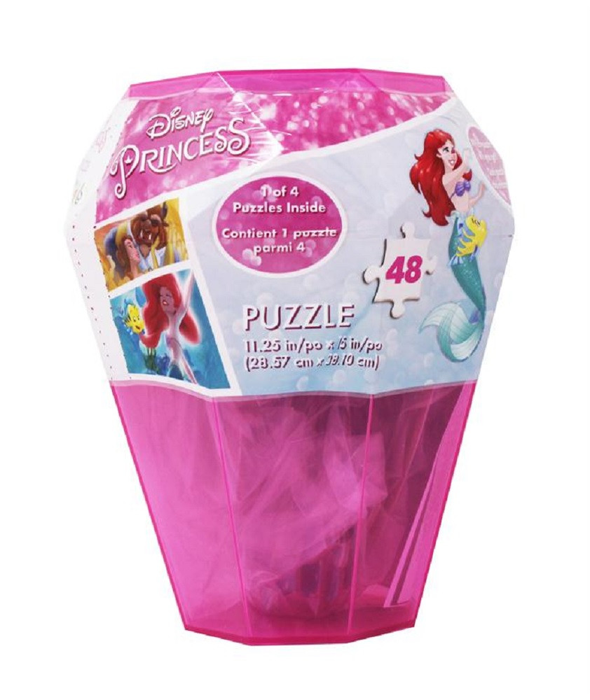 Disney Princess 48-Pieces Surprise Puzzle In Plastic Gem