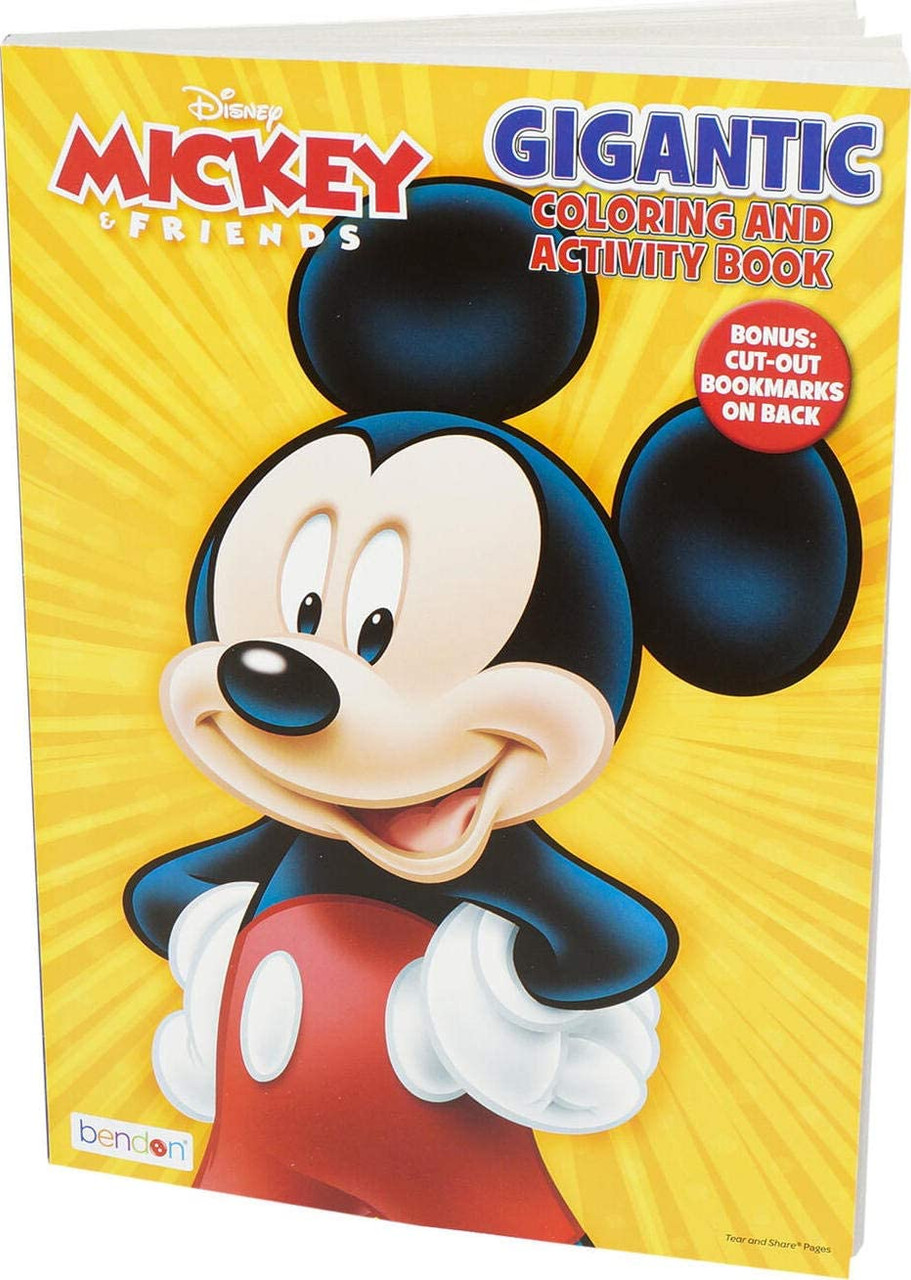 Coloring Book - Mickey and Friends - 192P - Coloring and Activity Book