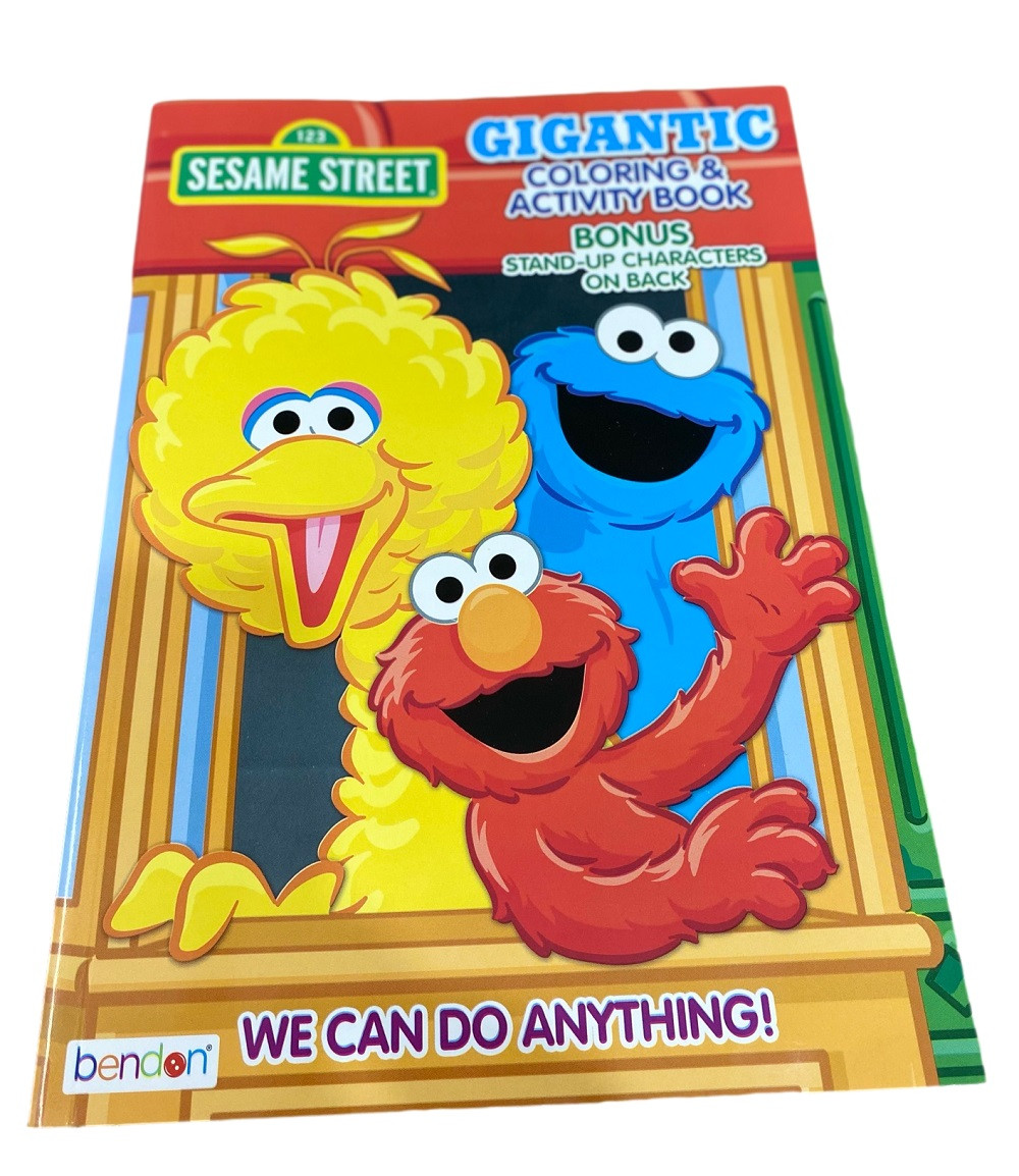 Coloring Book - Sesame Street - 192P - Coloring and Activity Book - Cookie Monster