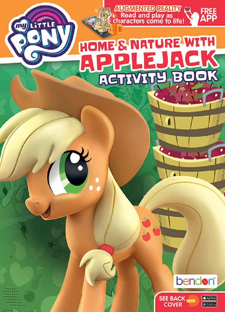 Coloring Book - My Little Pony - 64P - Coloring and AR Book - Applejack