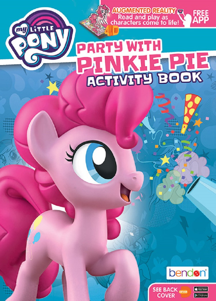 Coloring Book - My Little Pony - 64P - Coloring and AR Book - Pinkie Pie