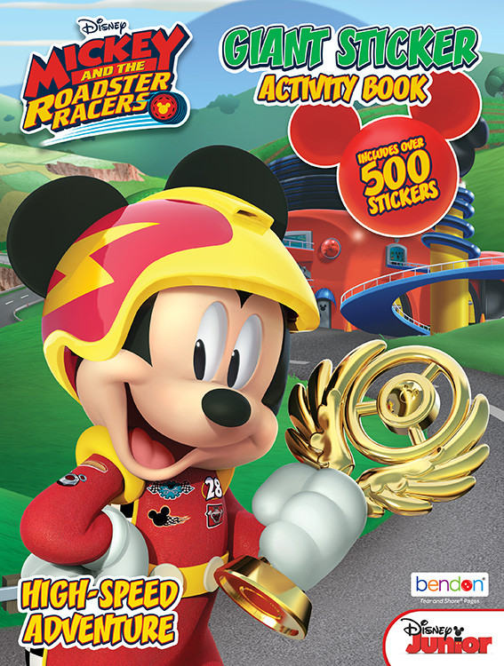 Coloring Book - Mickey Mouse - 500 Stickers - Coloring and Sticker Book