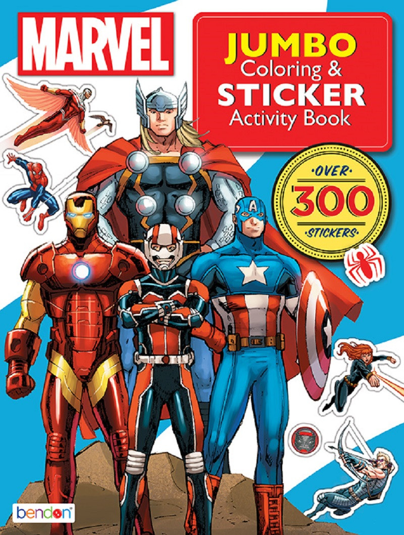 Activity Book - Avengers - 300 Stickers - Activity and Sticker Book