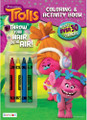 Coloring Book - Trolls - 32P - Coloring and Activity Book w Crayons