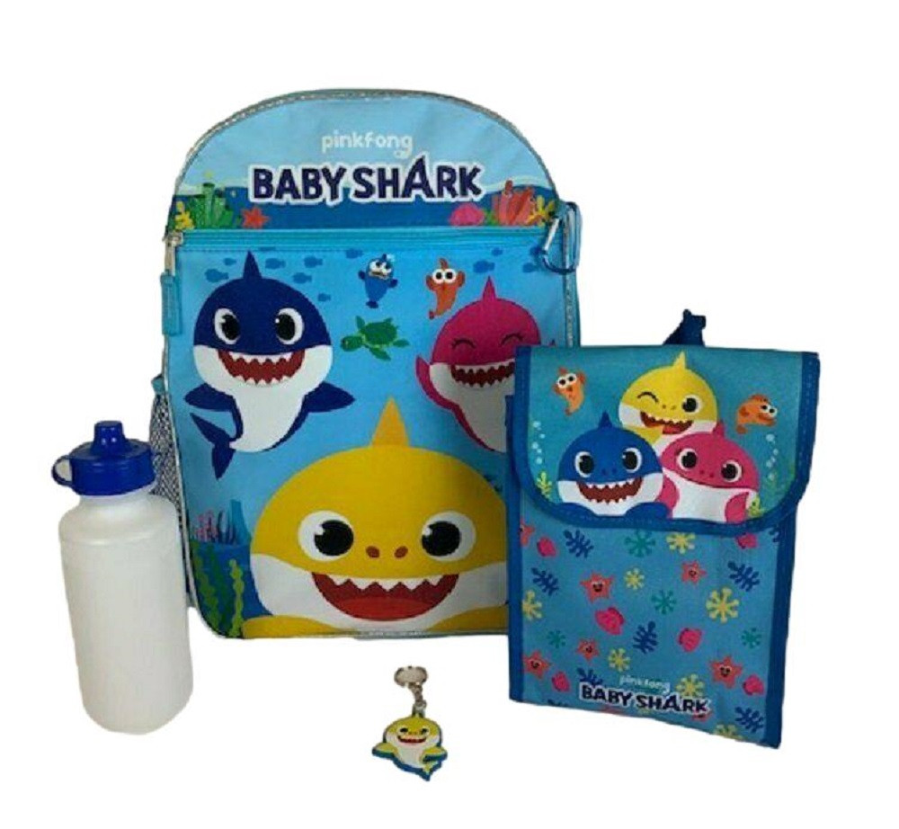 Backpack - Baby Shark - Large 16 Inches - 5pc Set