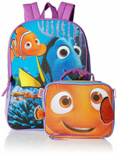 Backpack - Finding Dory - Large 16 Inch - w Lunch Box