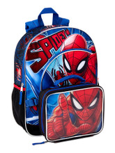 Backpack - Spiderman - Large 16 Inch - w Lunch Box - Spidey