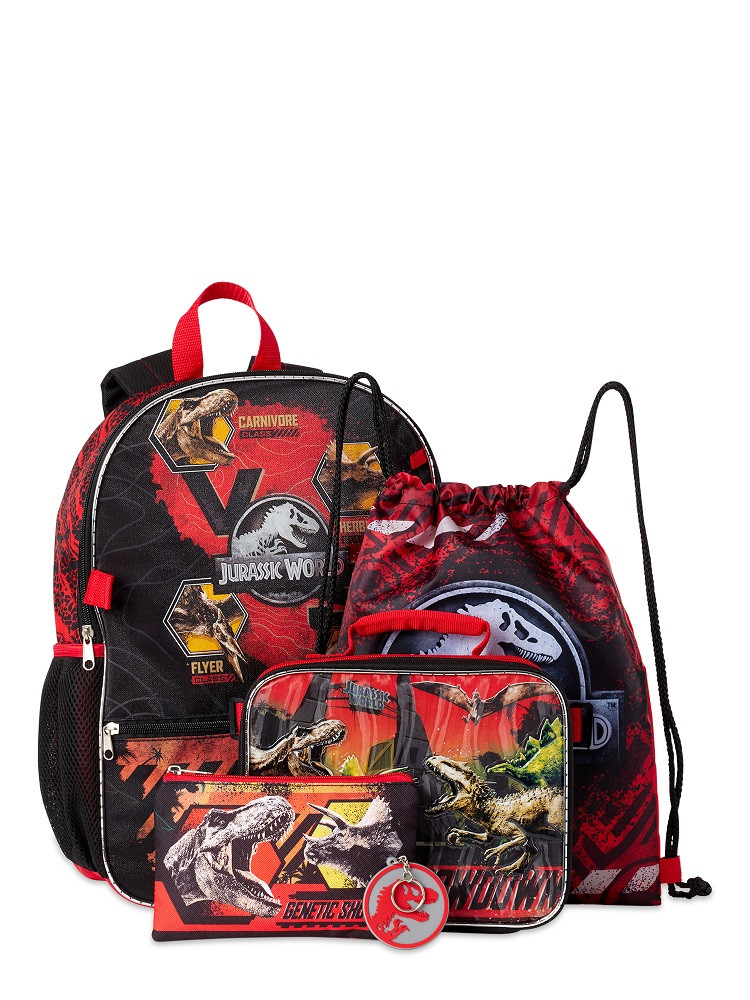 Backpack - Jurassic World - Large 16 Inch - 5 pc Set