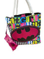 Shoulder Bag - Bat Girl - w Sunglasses - Black