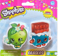 Shopkins - Erasers - Cheeky Chocolate & Apple Blossom - Party Favors - 2ct