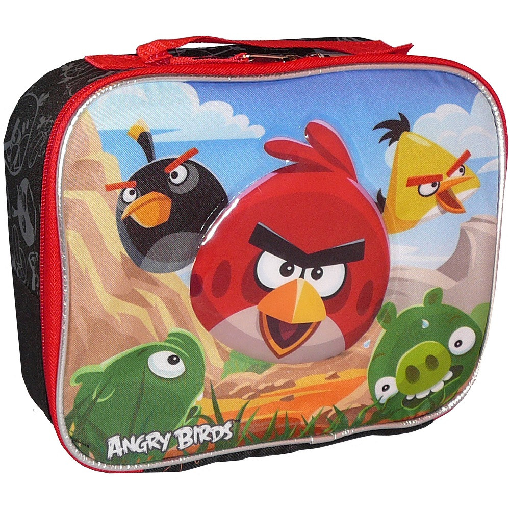Angry Birds Lunch Box - w/ Strap - Black