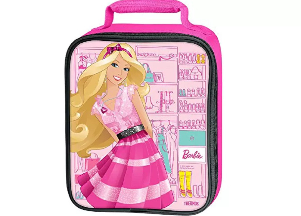 Barbie Lunch Box - Handle - Pink