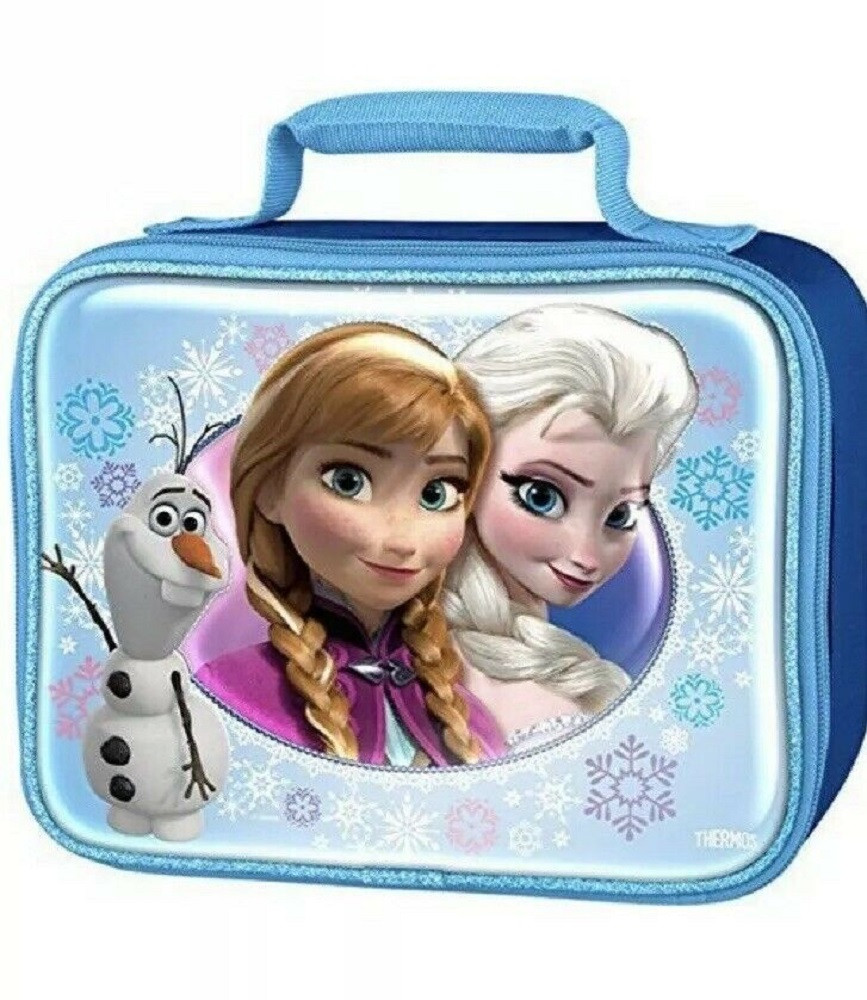 Frozen Lunch Box - Square Shaped - Blue