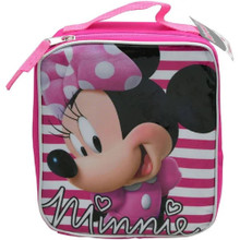 Minnie Mouse Lunch Box -Striped - Pink