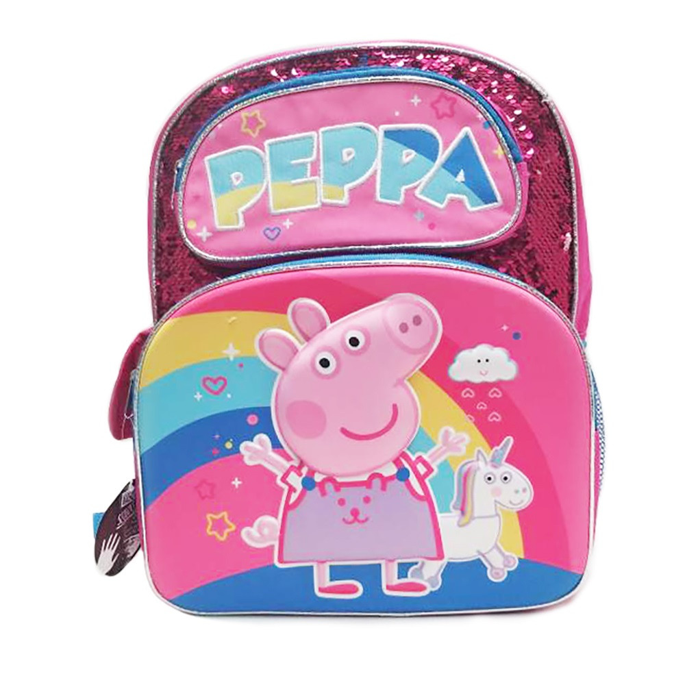 Peppa Small Backpack - Sequins - Pink