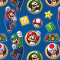 Super Mario Gift Wrap - Blue - 30 Inch X 8 Ft - Paper - 1 Roll