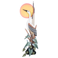 Heron in the Moonlight Wall Sculpture