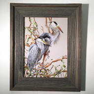 "Herons in Branch Framed Artwork 21"" x 17"""