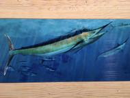Swordfish Feeding Frenzy Framed Artwork