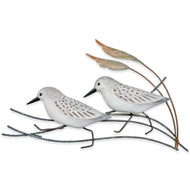 Sanderling Pair Metal Wall Art