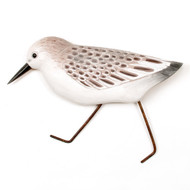 Sanderling Wooden Bird Wall Art