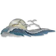 Seagulls on Waves Metal Wall Art CW330