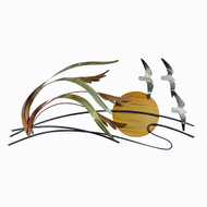 Sea Gulls and Sea Oats Metal Wall Art CO142