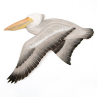 White Pelican Flying Wooden Wall Art CW326