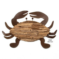 Driftwood Crab Metal Wall Art C605