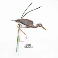 Tricolor Heron Decoy Wall Sculpture Hand Carved Wood