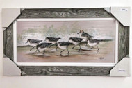 """Sanderlings on Beach Wall Painting 44"""" x 23"""""""
