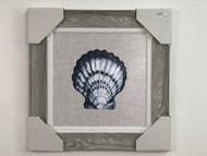Framed Scallop Shell Painting