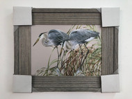 Herons Framed Painting 21 x 21""