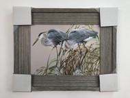 "Herons Framed Painting 21 x 21"""
