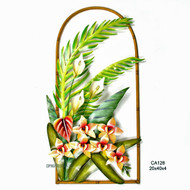 Blooming Orchid Metal Wall Arch