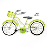 Beach Cruiser Lime Metal Wall Art
